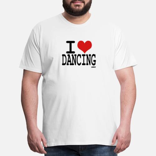 613452f55ee i love dancing by wam Men s Premium T-Shirt