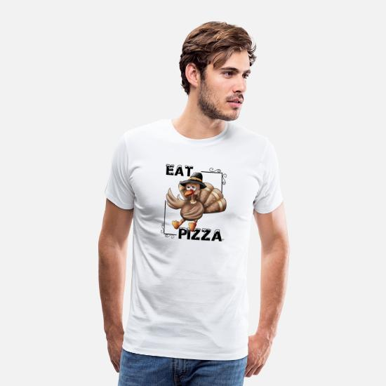Thanks T-Shirts - Eat Pizza (thanksgiving) - Men's Premium T-Shirt white