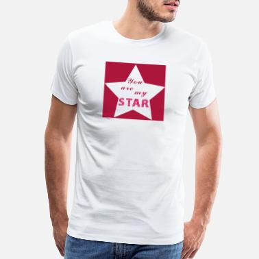 Big Heart You are my Star Valentines Day Gift Girlfriend - Men's Premium T-Shirt