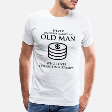 Coin Coin collecting Collector Dad Grandpa Fathers Day - Men's Premium T-Shirt
