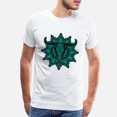 Spiritualized mandala cow spiritual namaste meditaion goa - Men's Premium T-Shirt