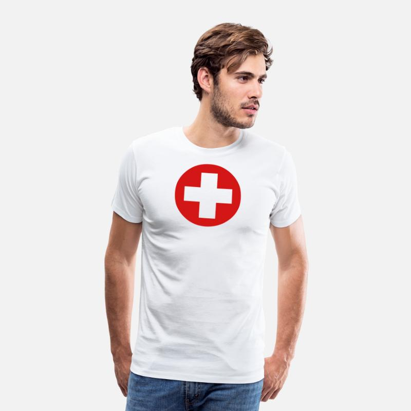 Hospital T-Shirts - Medical Cross Symbol - Men's Premium T-Shirt white