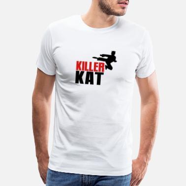 6dba2ee9d Killer Cat KILLER CAT ninja marital arts cat funny! - Men's Premium T-Shirt