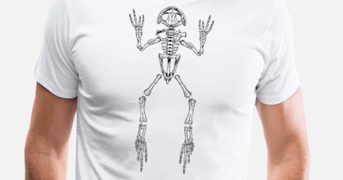 8a507f30651f frog skeleton Men's Premium T-Shirt | Spreadshirt