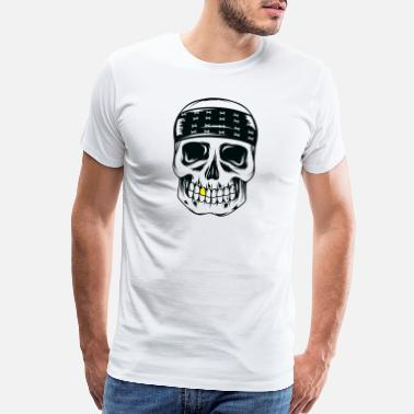 Kombat Skull With Gold - Men's Premium T-Shirt