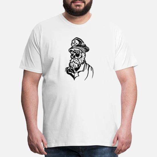 sea wolf skull tattoo sailor Men's Premium T-Shirt   Spreadshirt