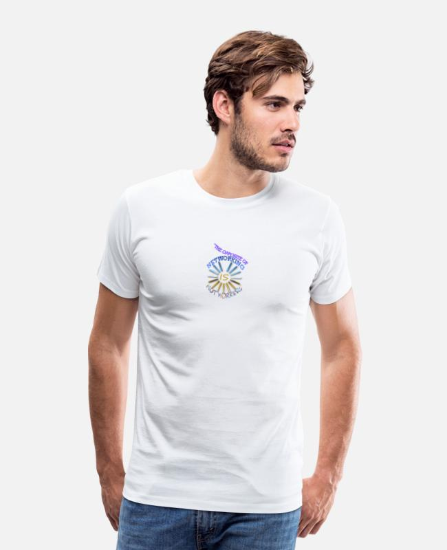 Opposite T-Shirts - Opposite of networking - Men's Premium T-Shirt white