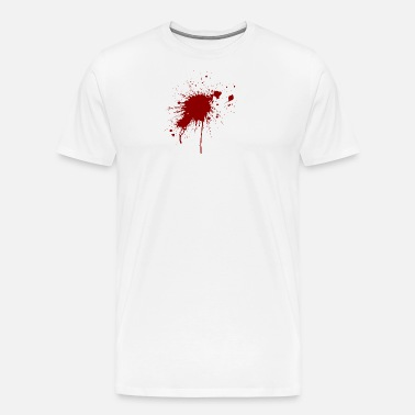 Blood Spatter From A Bullet Wound Men S Premium T Shirt Spreadshirt
