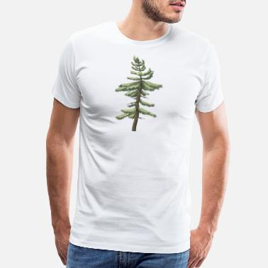 Conifer forest woods woodland wald tree baumstamm104 - Men's Premium T-Shirt