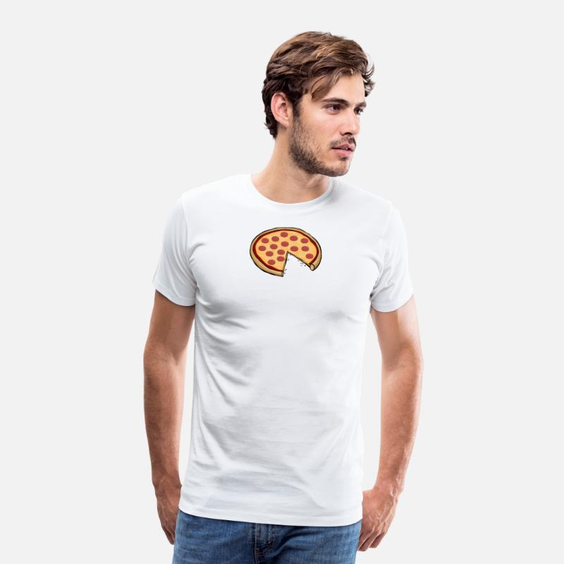 Father T-Shirts - Funny Cute Pizza Slice Matching Shirt Couple Love - Men's Premium T-Shirt white