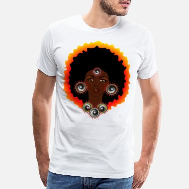 Spreadmusic2015 AFROCENTRIC WOMAN OF MUSIC GRAPHIC TEE - Men's Premium T-Shirt