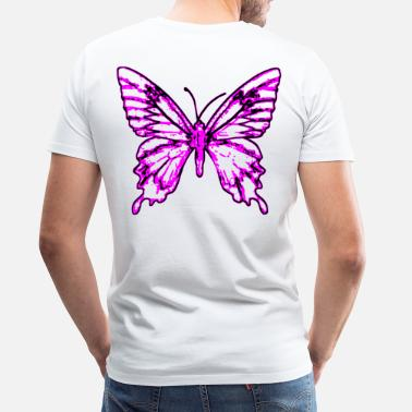 Fly Insect 2reborn Schmetterling Butterfly Fly flying Fliege - Men's Premium T-Shirt