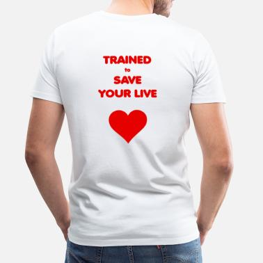 Live Aid Trained to save your live red/red - Men's Premium T-Shirt