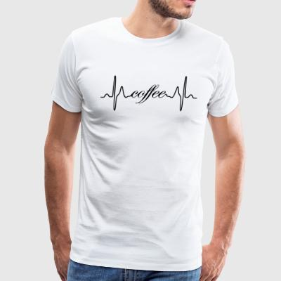 Coffee ECG heartbeat - Men's Premium T-Shirt