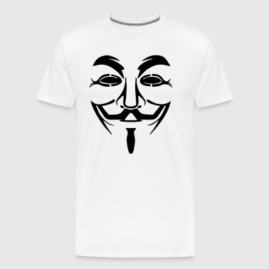 Anonymous - Guy Fawkes Mask - Men's Premium T-Shirt