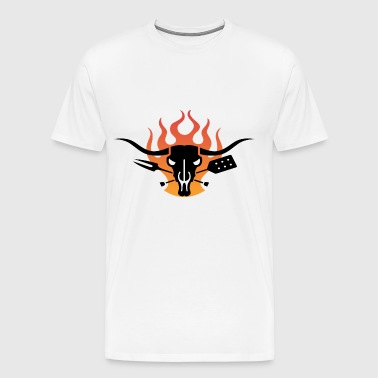 smoking steer bbq - Men's Premium T-Shirt