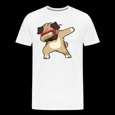 Dabbing Pug Cute Dog - Men's Premium T-Shirt