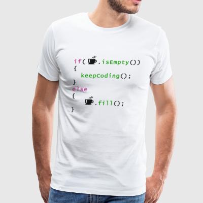 Coffee - coding syntax - Men's Premium T-Shirt