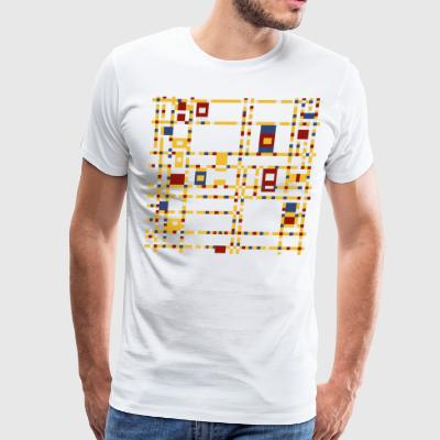 Broadway Boogie-Woogie by Piet Mondrian - Men's Premium T-Shirt