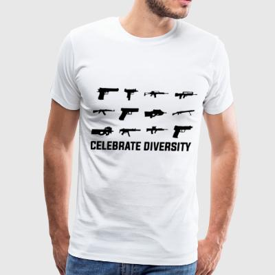 Celebrate Diversity Funny Gun Rights - Men's Premium T-Shirt