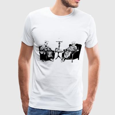 Banksy Graffiti Grannies Knitting Grandmas - Men's Premium T-Shirt