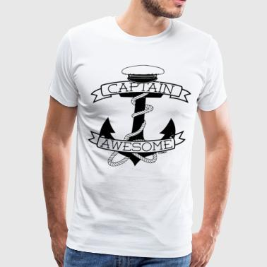Captain Awesome anchor - Men's Premium T-Shirt