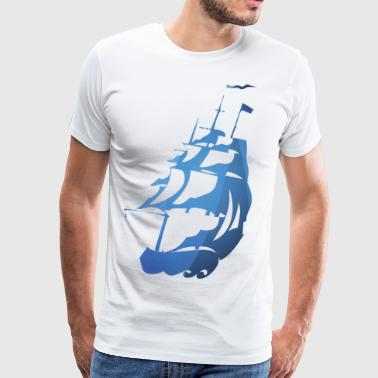 Cronicle Ship Blue - Men's Premium T-Shirt