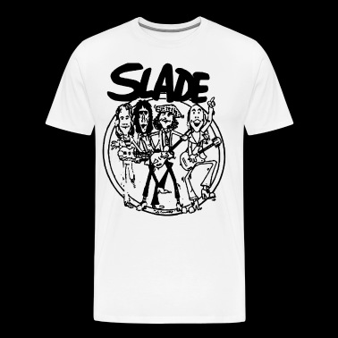 SLADE BAND GLAM HARD ROCK 70s RETRO CARTOON VINTAG - Men's Premium T-Shirt