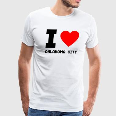I love Oklahoma City gift present city offer - Men's Premium T-Shirt