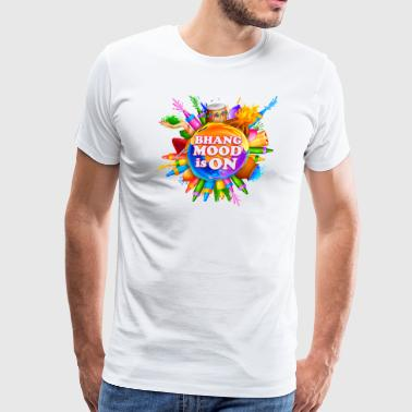 BHANG MOOD IS ON Funny Holi Tshirt - Men's Premium T-Shirt