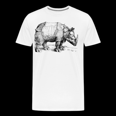 rhinoceros of durer illustration graphic - Men's Premium T-Shirt