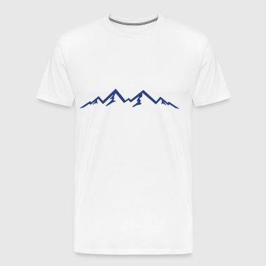 Mountains, Hiking, backpacking, Nature - Men's Premium T-Shirt