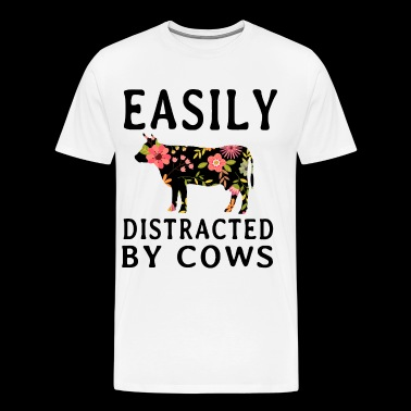 easily distracted by cow t shirts - Men's Premium T-Shirt