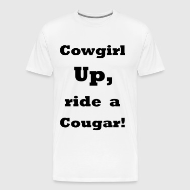 Cowgirl Up    bla216 - Men's Premium T-Shirt