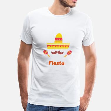 Mexican Moustache Sombrero and Moustache - Men's Premium T-Shirt