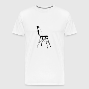 eames chair black - Men's Premium T-Shirt