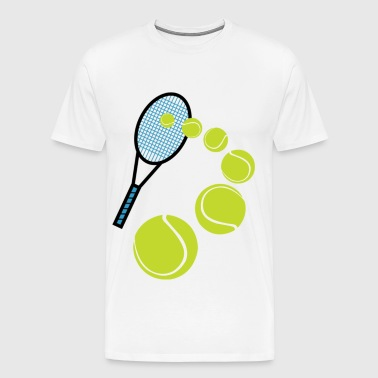 TENNIS SLICE SERVE - Men's Premium T-Shirt