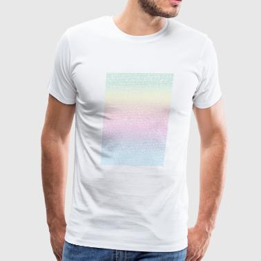 Bee Rainbow - Script - Men's Premium T-Shirt