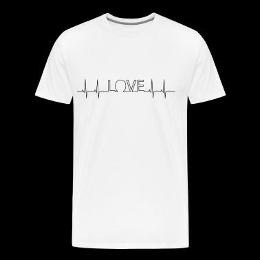 ekg love - Men's Premium T-Shirt