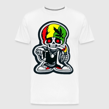 Rasta Marijuana Weed man - Men's Premium T-Shirt