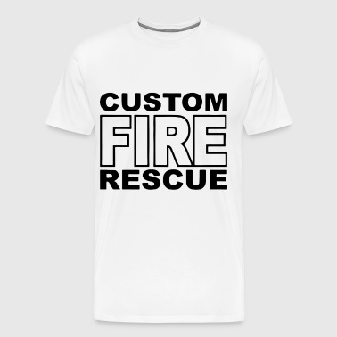 Fire Rescue Custom Duty Firefighter - Men's Premium T-Shirt