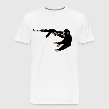 monkey holding a gun - Men's Premium T-Shirt