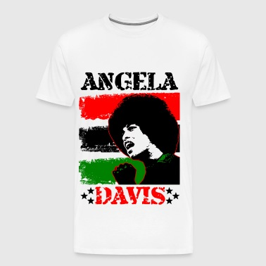 Angela Davis - Red Black & Green - Men's Premium T-Shirt