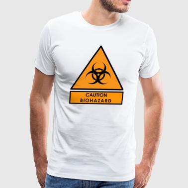 Caution Biohazard Sign - Men's Premium T-Shirt