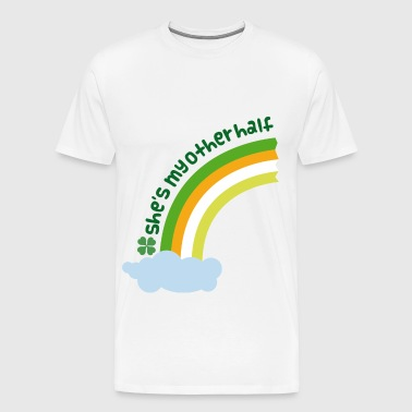 Irish Couples Matching Rainbow - Men's Premium T-Shirt