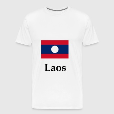 Laos Flag - Men's Premium T-Shirt