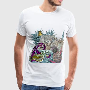 blue iguana lizard - Men's Premium T-Shirt