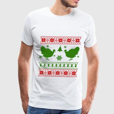 ugly turkey 16.png - Men's Premium T-Shirt