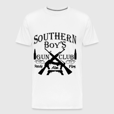 Redneck Southern Boy Girl Gun Club  ©WhiteTigerLLC - Men's Premium T-Shirt