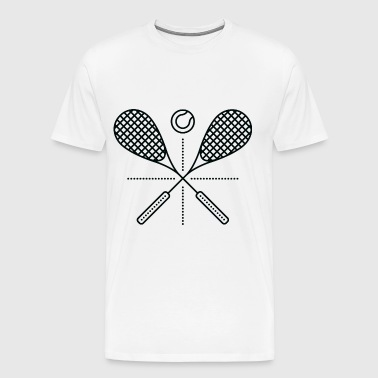 Squash Rackets - Men's Premium T-Shirt